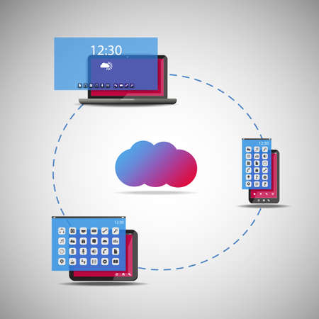 Cloud Computing Concept - Vector Illustration Vector