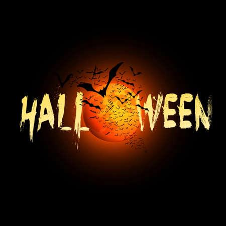przerażający: Kartka Halloween - ilustracji wektorowych
