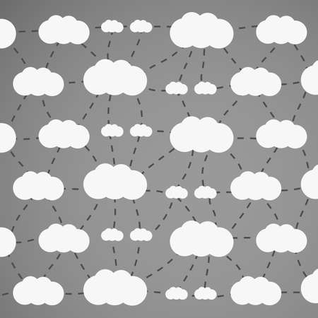 dashed line: Cloud Computing Concept - Background Design