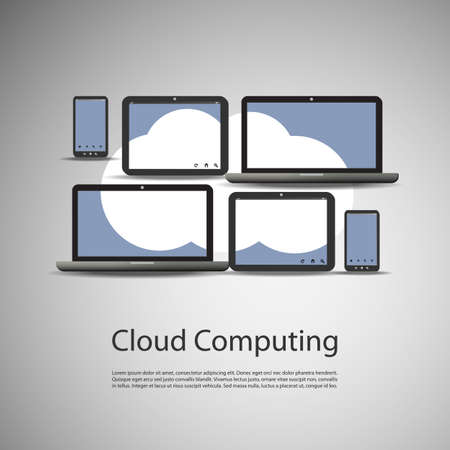 business communication: Cloud Computing Concept Illustration