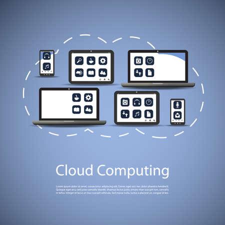Cloud Computing Concept Stock Vector - 22274340