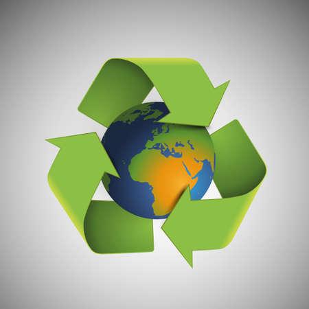 Save The World - Environmentally Friendly Planet Stock Vector - 22348333
