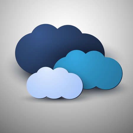 Cloud Computing Concept Illustration Vector