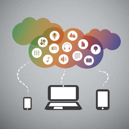 Cloud Computing Concept Stock Vector - 22846188