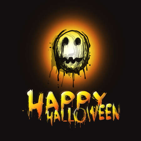 Happy Halloween Card  Illustration Vector