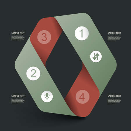 Infographic Design - Paper Ribbon Vector