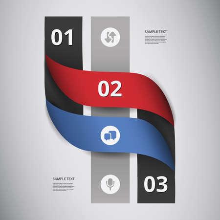 folded hands: Paper Ribbon Infographics Design Illustration