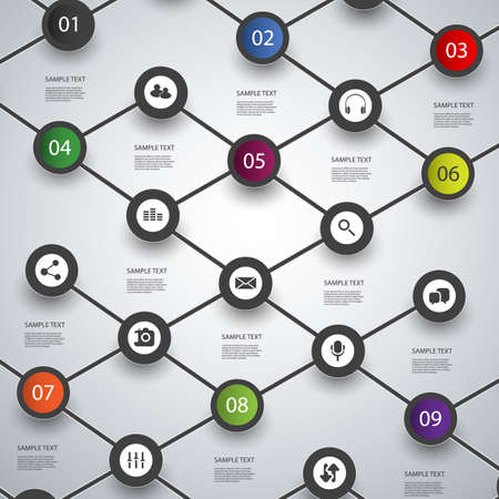 connect the dots: Minimal Infographics Design