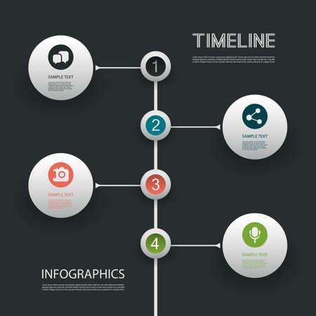 Minimal Infographics Design Stock Vector - 22951356