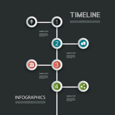 direction board: Minimal Infographics Design - Timeline