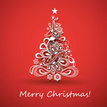 christmas decorations with white background: Christmas Greeting Card
