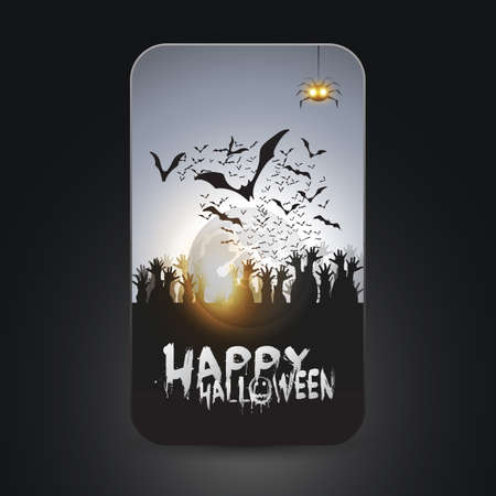 Halloween Card Stock Vector - 22846276