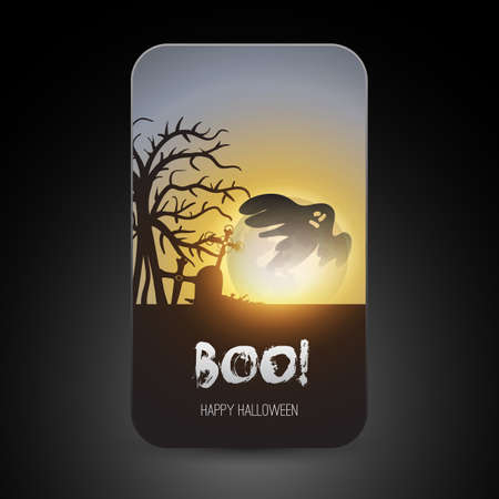 Halloween Greeting Card Design Vector