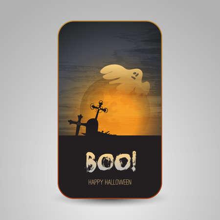 Halloween Greeting Card Design Stock Vector - 22846285