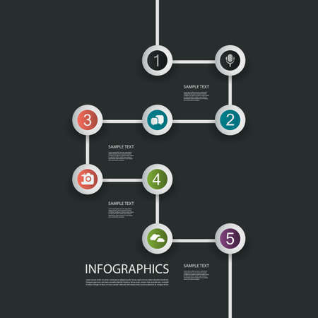 numbered: Minimal Infographics Design - Timeline