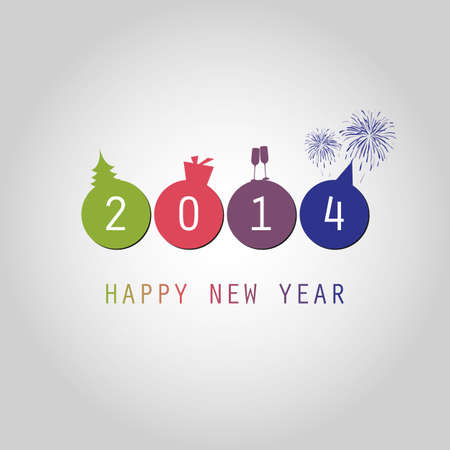 New Year Card Background - 2014 Vector