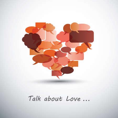 carmine: Hablar de amor - coraz�n de burbujas de discurso
