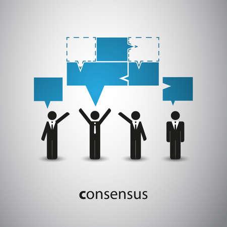 Consenso - Concepto burbuja del discurso