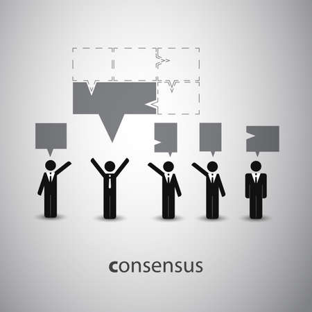 Consensus - Speech Bubble Concept Vector