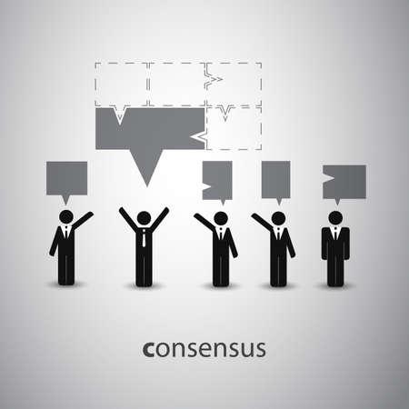 Consensus - Speech Bubble Concept Stock Vector - 23898169