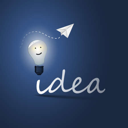 Idea - Bulb Concept Design Vector