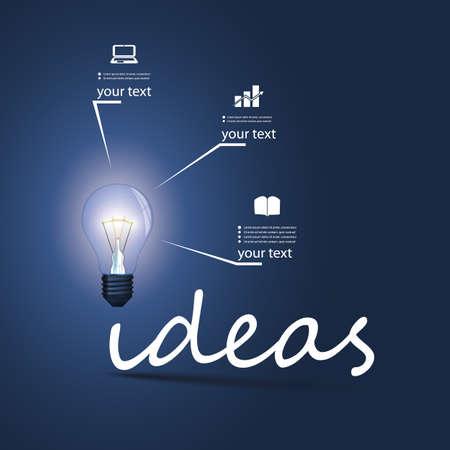 energy efficient light bulb: Ideas - Infographic Bulb Concept Design