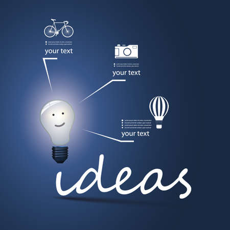 Ideas - Infographic Bulb Concept Design Vector