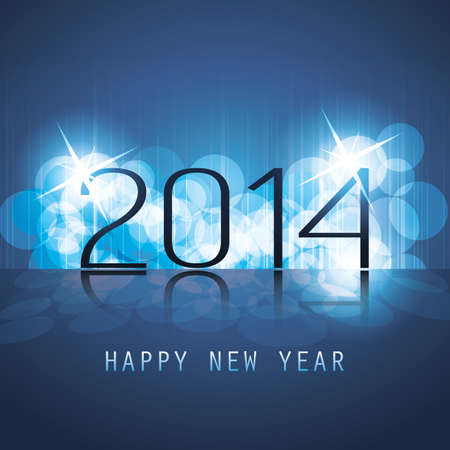 New Year Card, Cover or Background Template - 2014 Stock Vector - 23654212