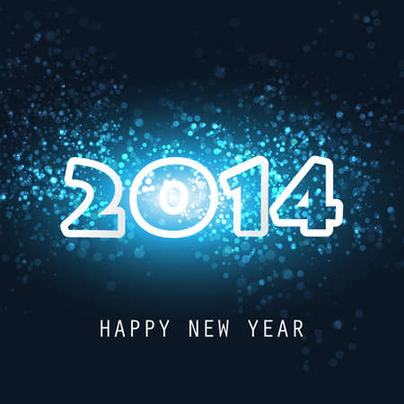 New Year Card, Cover or Background Template - 2014 Stock Vector - 23319604