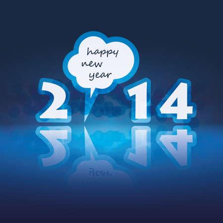 New Year Card - 2014 Stock Vector - 23319610