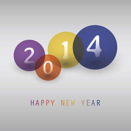 Tarjeta del Año Nuevo - 2014 Foto de archivo - 23319628