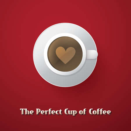 I Love Coffee - Coffee Cup Illustration Vector