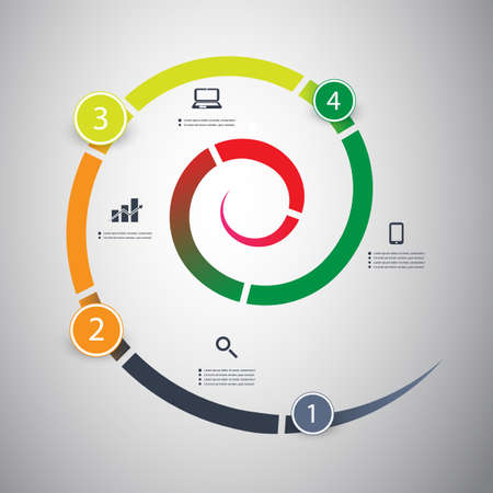 circular flow: Infographic Design