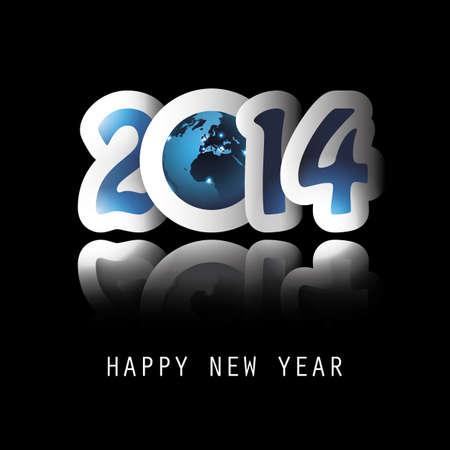 New Year Background - 2014 Vettoriali