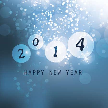 New Year Card - 2014 Stock Vector - 23643875