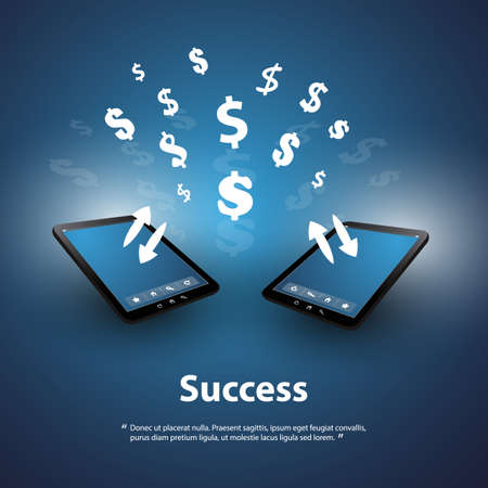 online trading: Success - Buy and Sell Online - Graphic Design Concept