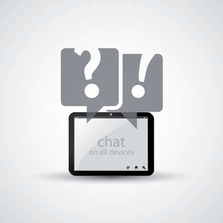 Chat on All Devices - Icon Design Vector