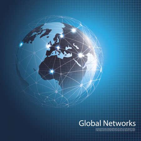 conectar: Redes Globales - ilustración para su negocio