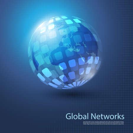 Global Networks - Illustration for Your Business Vector
