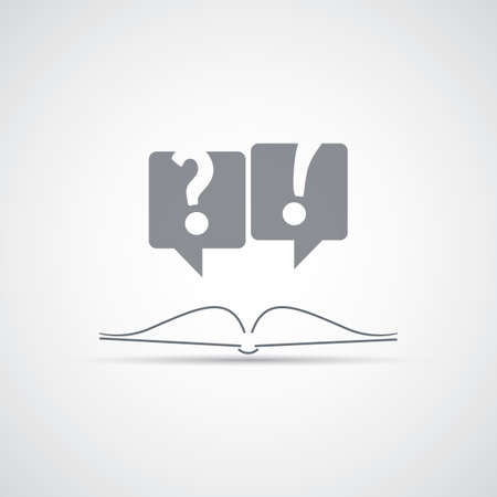 Reading a Book - Icon Design Vector