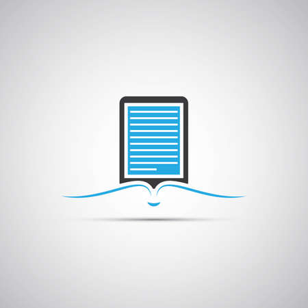 E-Book Reader Icon Design Vector