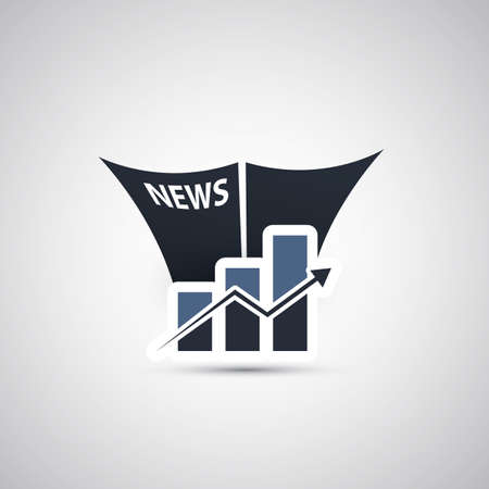 news icon: Growth in The News - Icon Concept Design
