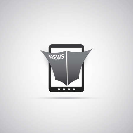 Tablet Icon Design - Online News Stock Vector - 24558334