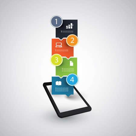 Infografik-Design - Tablet und Handy-Trends Konzept Standard-Bild - 24518089