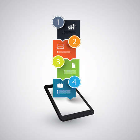 data flow: Infographic Design - Tablet and Mobile Phone Trends Concept