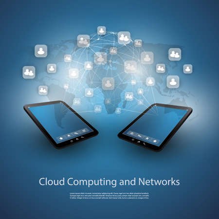 Cloud Computing And Networks - Design Concept Vector
