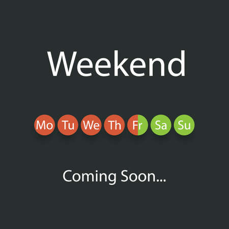 Weekends Coming Soon Illustration Çizim