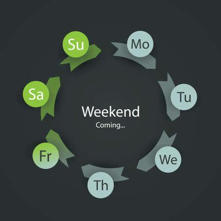 weekdays: Weekends Coming Soon Illustration Illustration