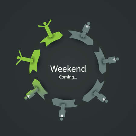 caption: Weekends Coming Soon Illustration Illustration