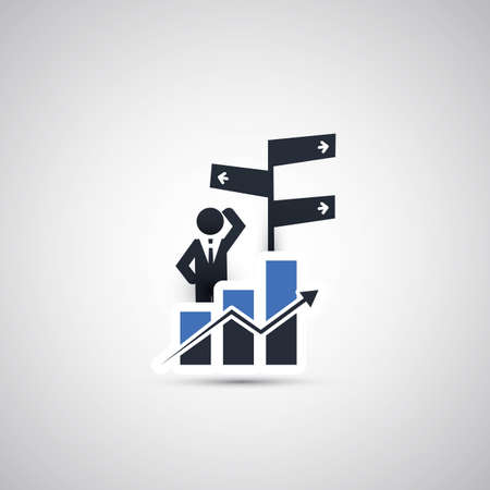 business decision: Business, Decision Making Icon Concept Design